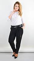 Офисные женские брюки большого размера Яна черные 50,52,54,56
