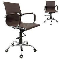 Офисное компьютерное кресло Bonro B-605 Brown до 120 кг