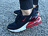 Кроссовки женские подростковые синие Nike Air Max 270 реплика, фото 4