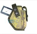 Кобура поясная для пистолета ПМ цвет черный, мулькамуфляж, материал - кордура с чехлом под запасной магазин, фото 4