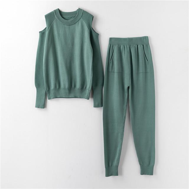 Костюм женский трикотажный  двойка  кофта и штаны весенний, бежевый  S/M