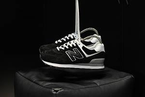 Мужские кроссовки New Balance 574 Black+White \ Нью Беленс 574 \ Чоловічі кросівки Нью Беленс 574