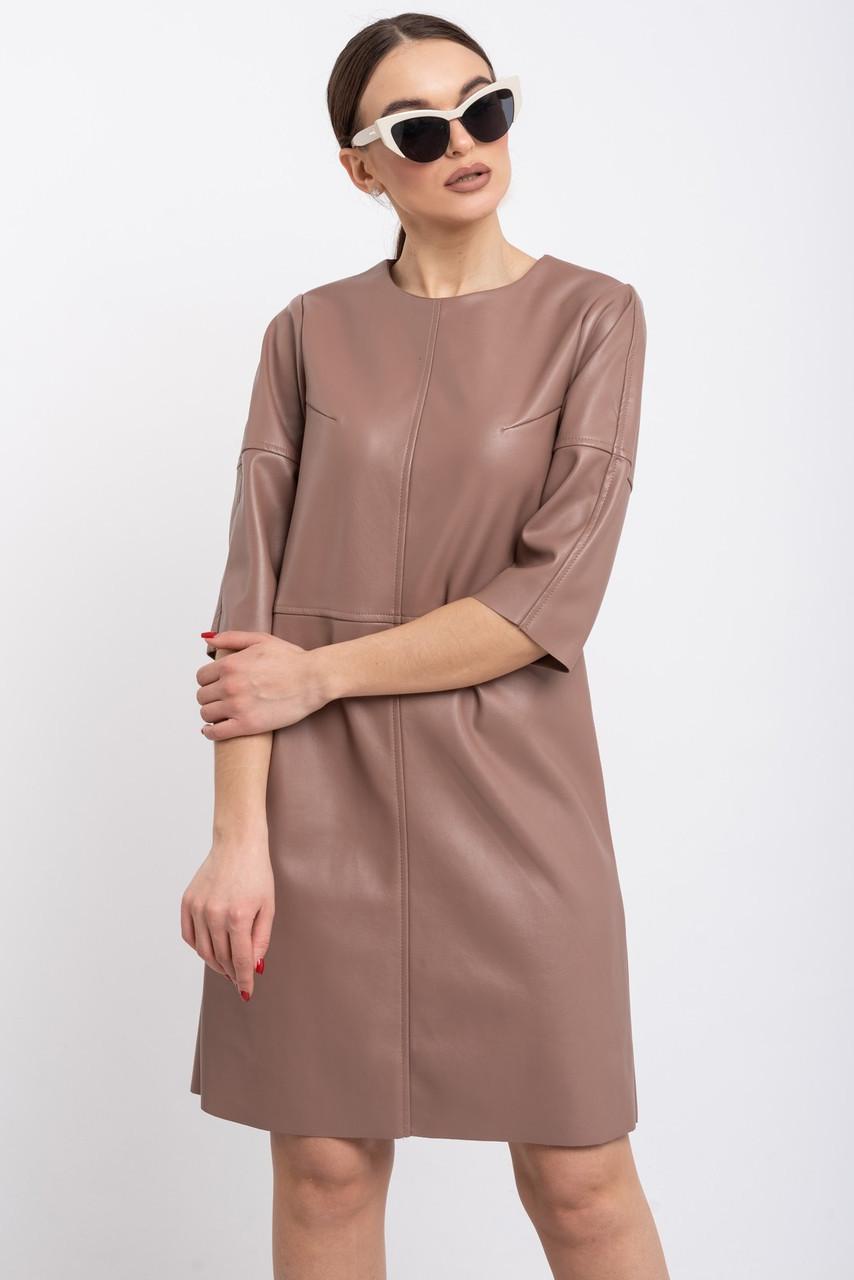 Стильне шкіряне плаття з 44 по 52 розміри