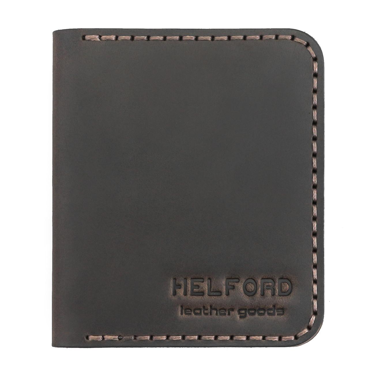 Картхолдер кожаный ручной работы HELFORD Диккер brn (roz-1134029862)