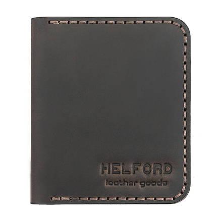 Картхолдер кожаный ручной работы HELFORD Диккер brn (roz-1134029862), фото 2