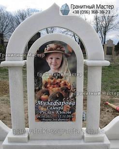Красивый детский памятник для маленькой девочки