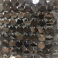 Круглые пайетки 30 мм, на черном планшете, цвет Jet, 1 шт