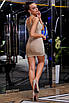 Люрексовое блестящее платье мини на тонких бретелях, фото 4