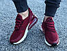 Кроссовки женские подростковые бордовые Nike Air Max 270 реплика, фото 3