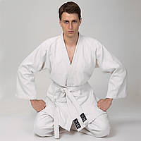 Кимоно для дзюдо MATSA MA-0013 (хлопок-плотность 450г на м2, размер 000-7, рост-110-200см, белый)