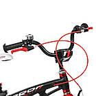 Велосипед детский двухколесный PROFI LMG16201 Infinity 16 дюймов черно-красный матовый, фото 3