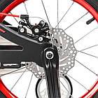 Велосипед детский двухколесный PROFI LMG16201 Infinity 16 дюймов черно-красный матовый, фото 4