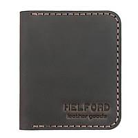 Картхолдер кожаный ручной работы темно-коричневый HELFORD Диккер brn (1134029862)