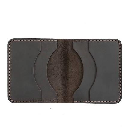 Картхолдер кожаный ручной работы темно-коричневый HELFORD Диккер brn (1134029862), фото 2