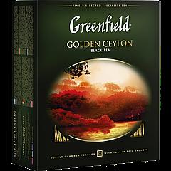 """Чай черный пакетированный Greenfield """"Golden Ceylon"""" 100шт (в коробке)"""