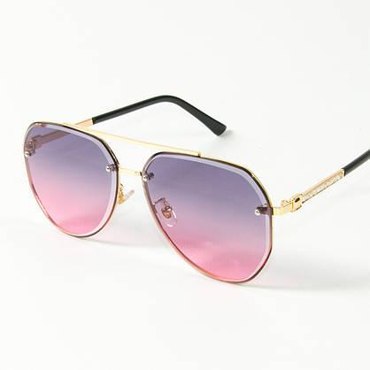 Оптом солнцезащитные очки авиаторы (арт. 3-2489/3) розово-голубые, фото 3