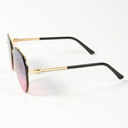 Оптом солнцезащитные очки авиаторы (арт. 3-2489/3) розово-голубые, фото 2