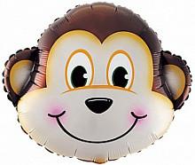 Фольгована кулька велика фігура Мавпа голова 62.5х56см Китай