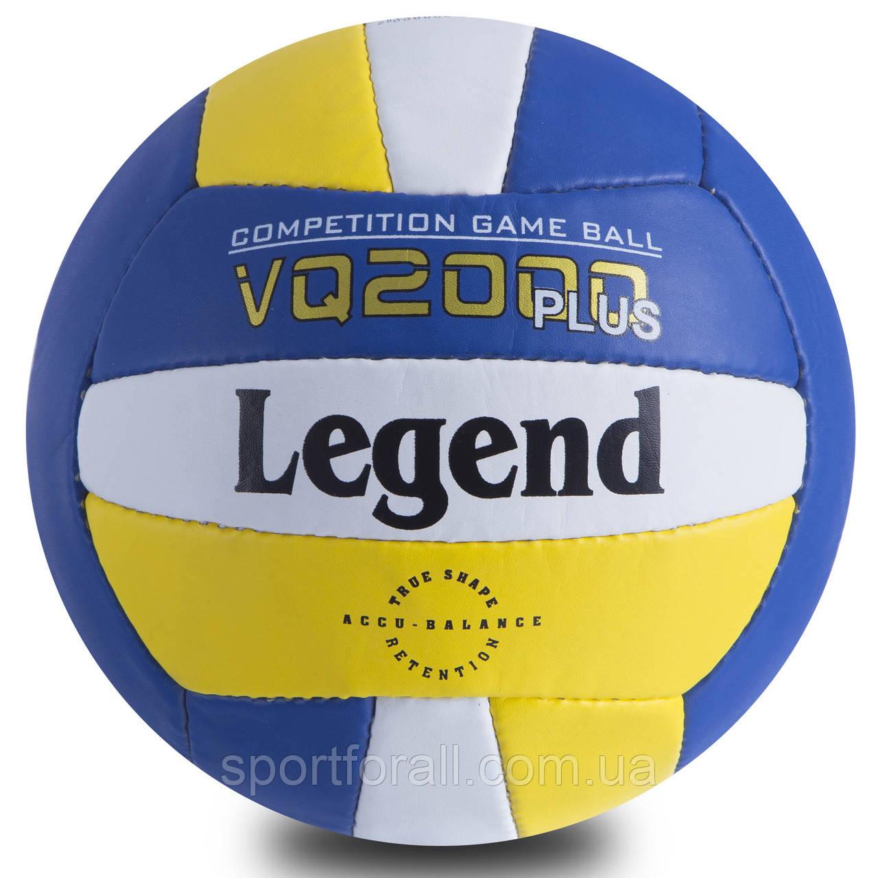 М'яч волейбольний PU LEGEND (PU, №5, 3 шари, зшитий вручну) LG-0691