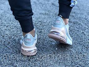 Кроссовки женские подростковые серые Nike Air Max 270 реплика, фото 3