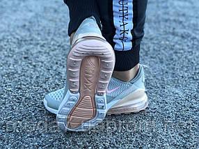 Кроссовки женские подростковые серые Nike Air Max 270 реплика, фото 2