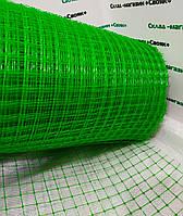 Сетка вольерная пластиковая  высота 2 м,ячейка 12х14 мм (черная,зеленая).