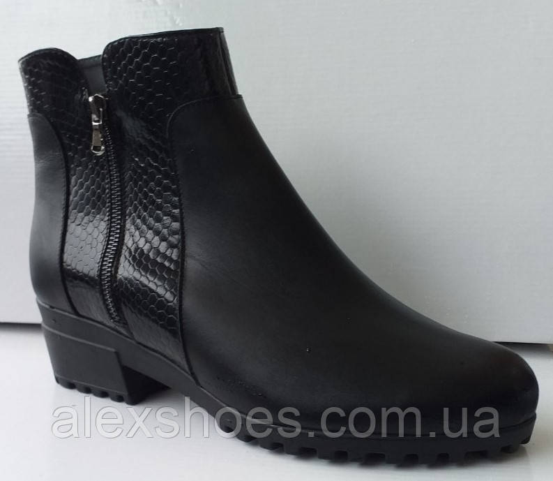 Ботинки женские зимние из натуральной кожи большого размера от производителя модель АР467-2