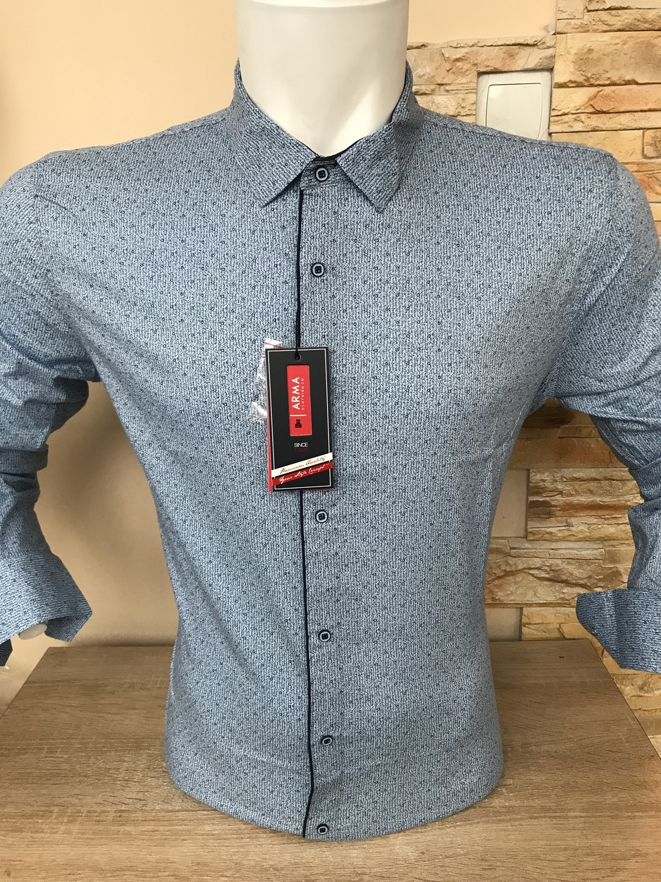 Рубашка ARMA slim с принтом
