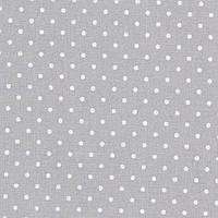 3984/7349 Murano Lugana Petit Point 32 (ширина 140см) серый в белый горошек 35*25 см