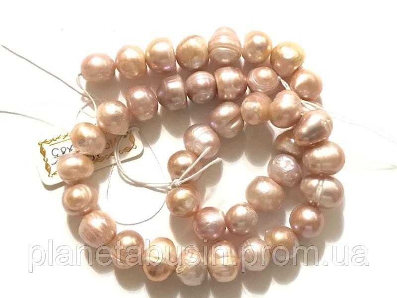 10 мм Сиреневый Жемчуг,  Натуральный камень, бусины, Форма: Шар, Отверстие: 1 мм, Длина: 35 см