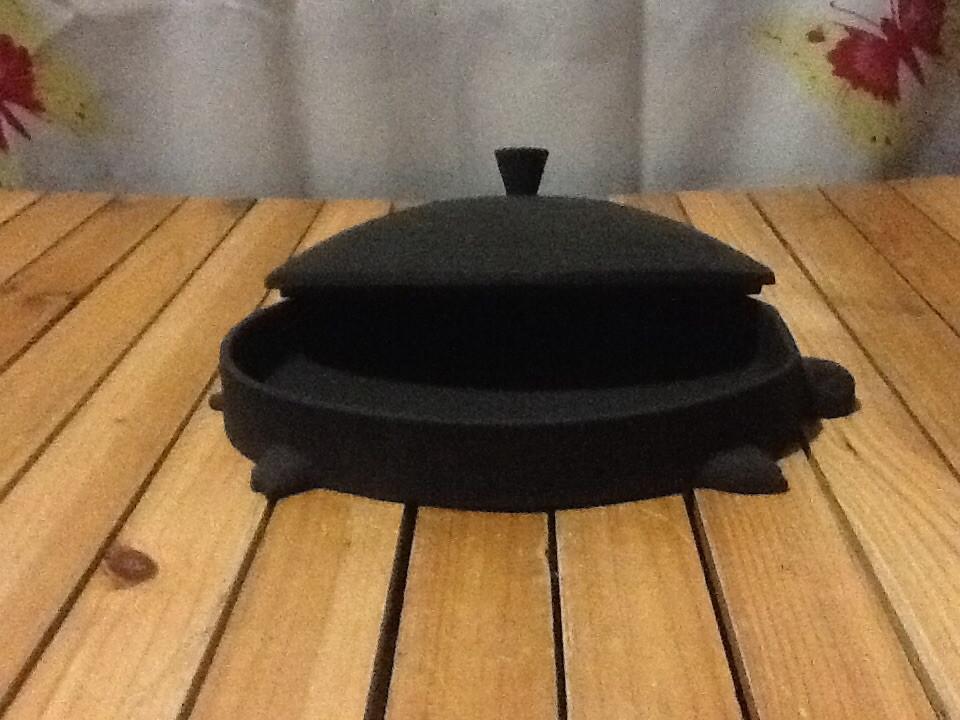 Сковородка чугунная порционная черепаха 210х160мм