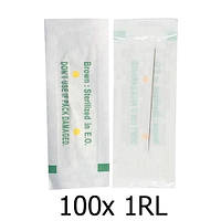 100x Игла 1RL 0.35мм контурная для машинок перманентного макияжа татуажа
