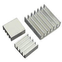 3x Радиатор алюминиевый для Raspberry PI, комплект