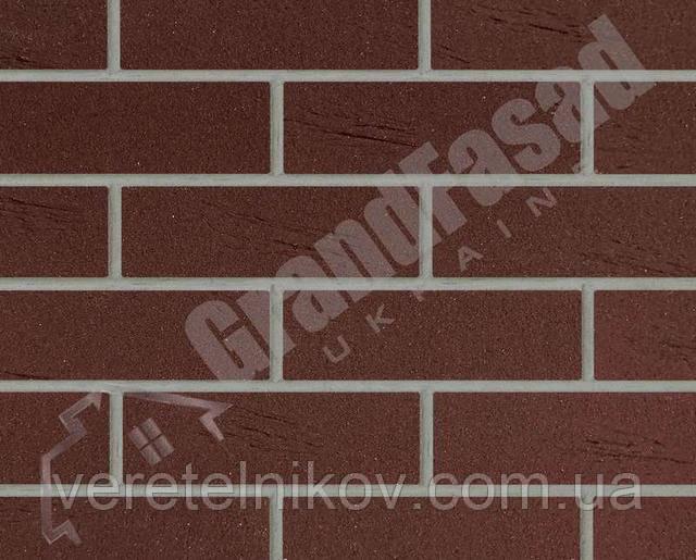 Гибкий кирпич клинкер гладкий «ELASTOCLIN» (Эластоклин) цвет №34 серая затирка