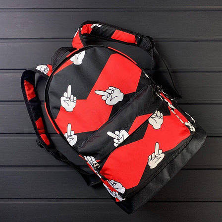 Городской спортивный рюкзак F*ck оранжевого цвета, фото 2