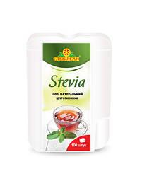 Стевия экстракт сухой в таблетках с дозатором Стевиясан 100 шт