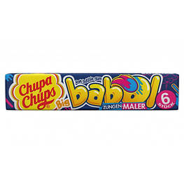 Chupa Chups Babol Жевательная резинка, которая красит язык в синий цвет