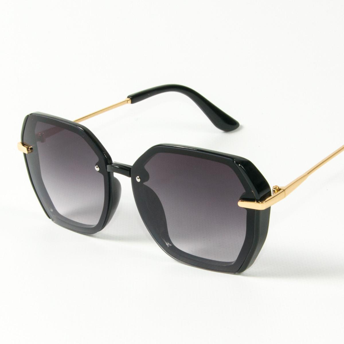 Оптом женские солнцезащитные квадратные очки  (арт. 2327/1) черные