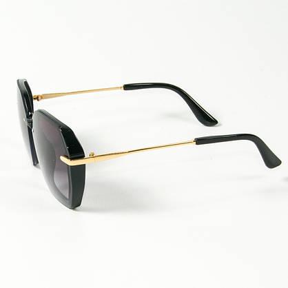 Оптом женские солнцезащитные квадратные очки  (арт. 2327/1) черные, фото 2