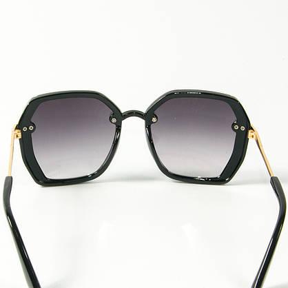 Оптом женские солнцезащитные квадратные очки  (арт. 2327/1) черные, фото 3