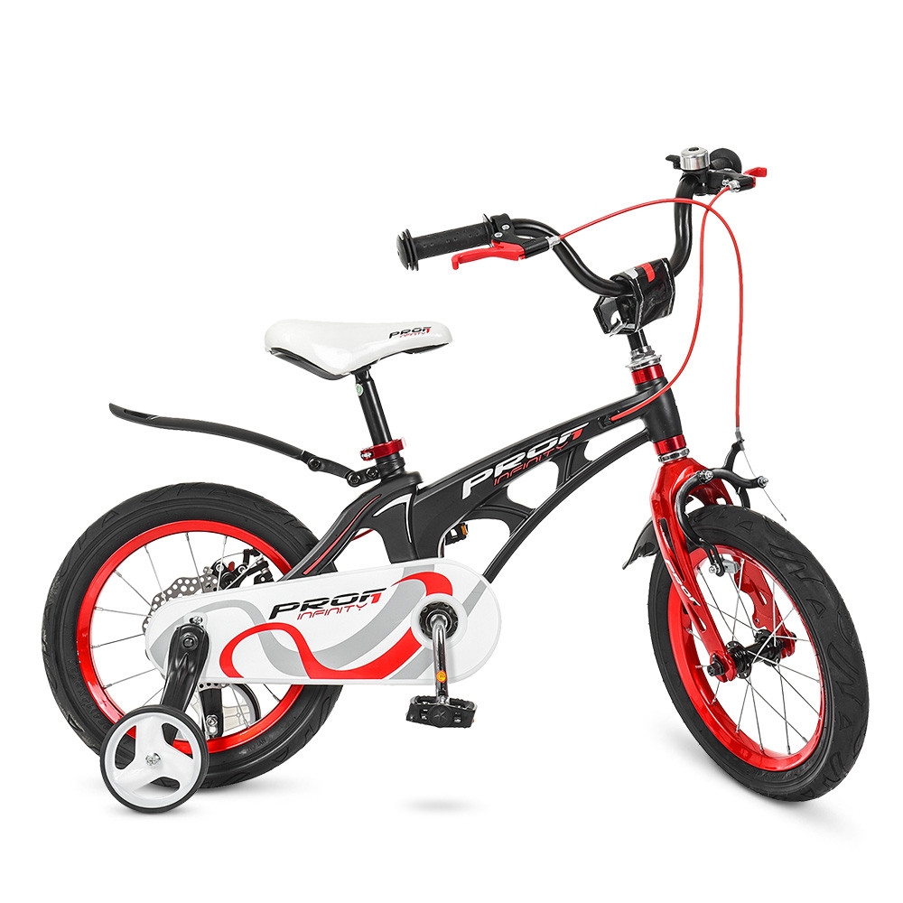 Велосипед детский двухколесный PROFI Infinity LMG14201 14 дюймов черно-красный