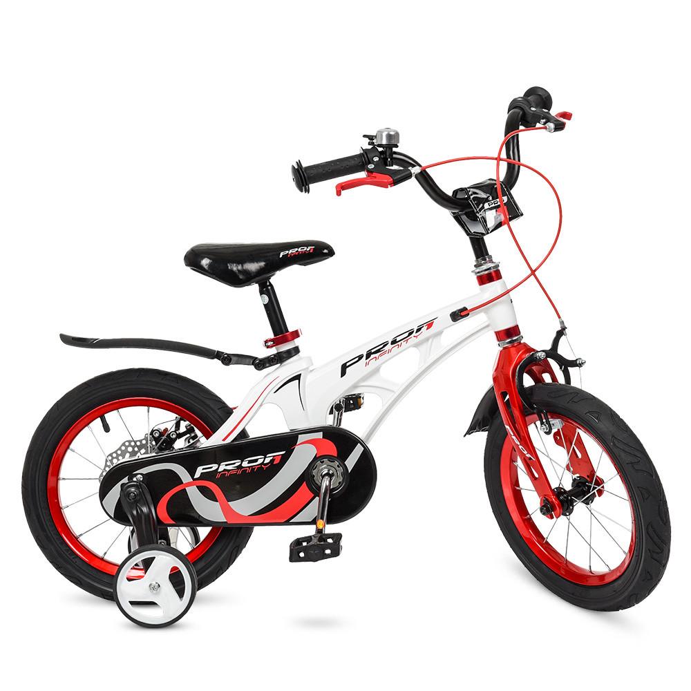 Велосипед детский двухколесный PROFI Infinity LMG14202 14 дюймов бело-красный