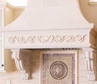 Кухонная вытяжка из мрамора в классическом стиле, фото 1