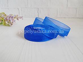 Стрічка органза 2 см синя