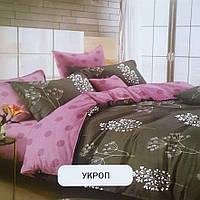 Хлопковый Набор постельного белья Укром с принтом. 100% хлопок. полуторка, двухспалка, евро