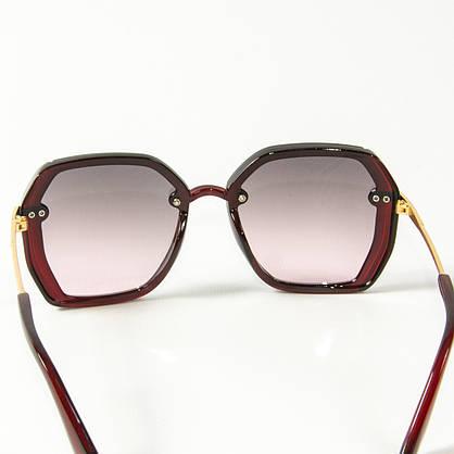 Оптом женские солнцезащитные квадратные очки  (арт. 2327/4) красные, фото 3