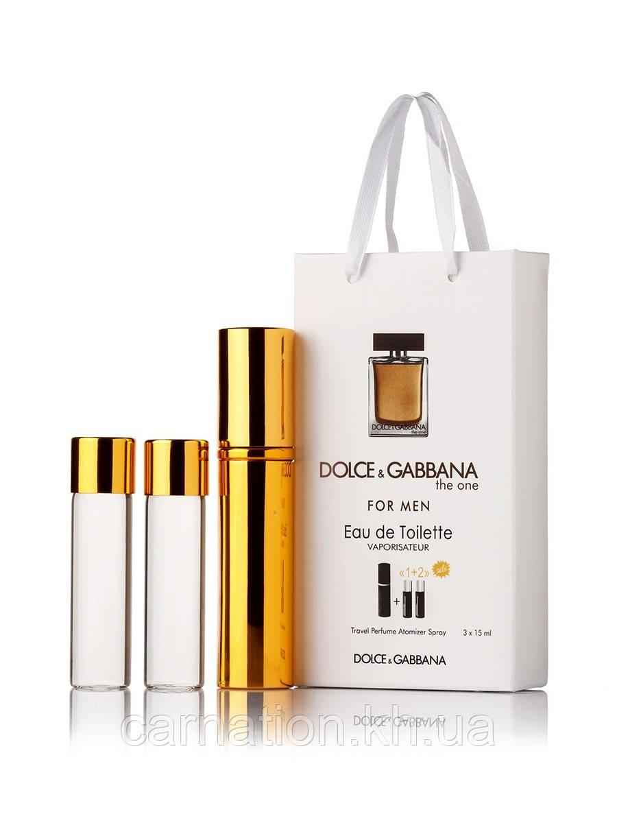 Подарочный набор Dolce&Gabbana The One for Men 3 по 15 мл
