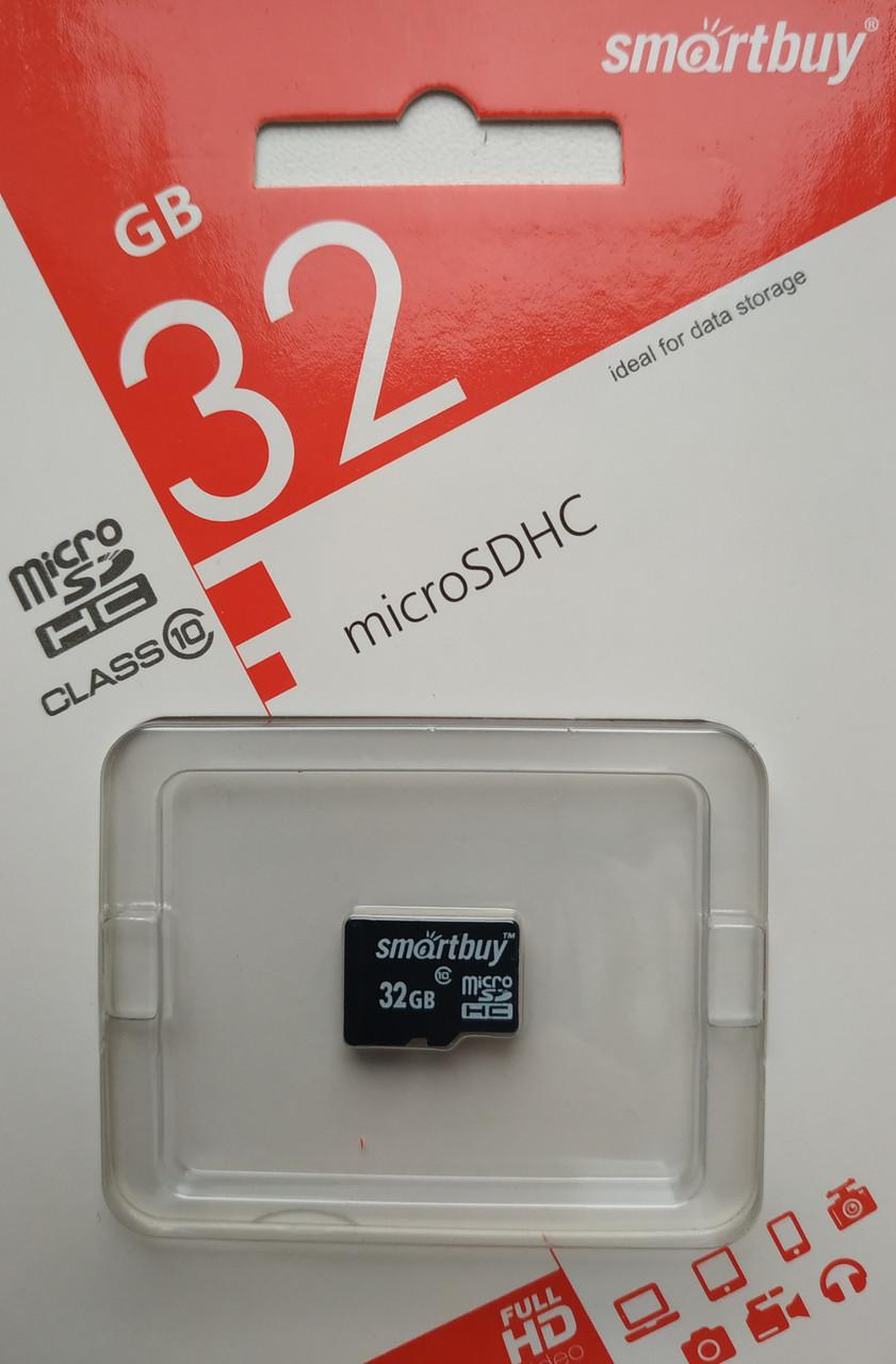 Карта памяти микро SDHC Smartbuy 32 гб класс 10 без адаптера