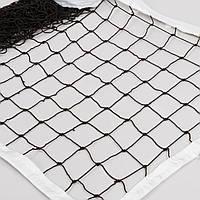 Сетка для волейбола Элит10 Норма SO-0947 (PP 3,5мм, р-р 9,5x1м, ячейка 10x10см, метал. трос)
