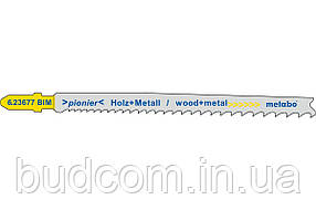 Пилка для лобзика по дереву / металлу Metabo Pionier 106 мм T 345 XF, 25 шт (623621000)